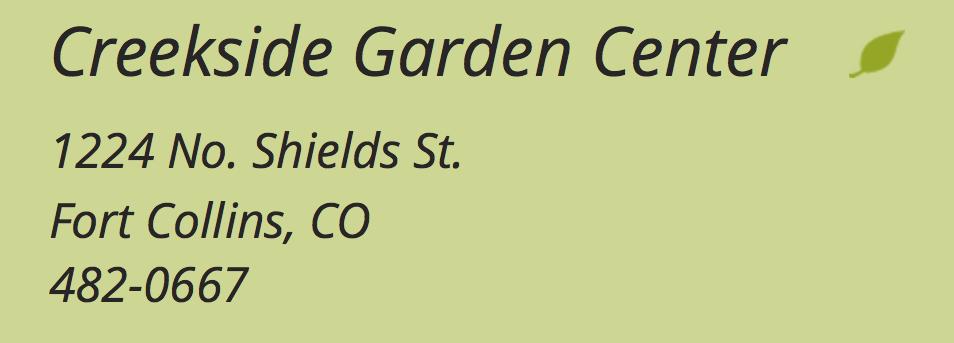 Creekside Garden Center